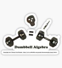 Dumbbell Algebra Sticker