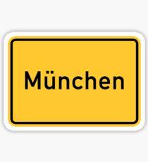 Munich, Road Sign, Germany  Sticker