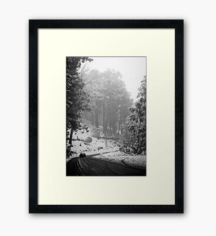 Mt Buller Snow Framed Print