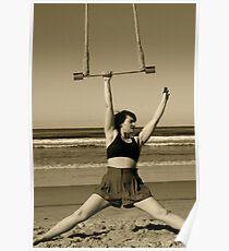 Trapeze Beach Camp Poster