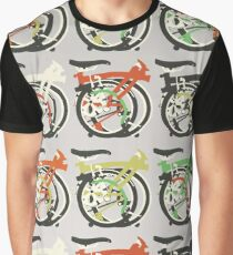 Folded Brompton Bicycle Graphic T-Shirt
