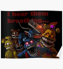 FNAF 4 Nightmare Animatronics Poster