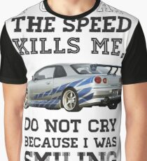 Paul Walker Tribute GTR - Halftone Graphic T-Shirt