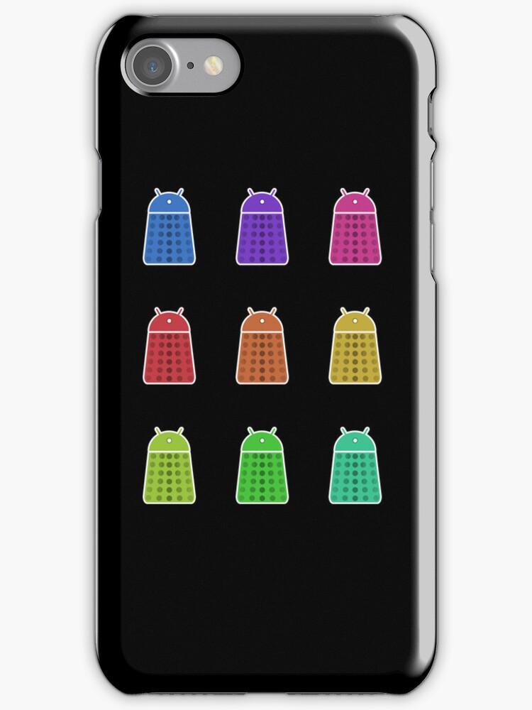 Rainbow Android Daleks by Nana Leonti