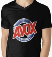 Avox Logo (distressed) Mens V-Neck T-Shirt