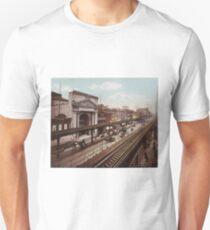 Camiseta unisex The Bowery New York City Photo-Print (1898)