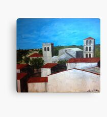 View from the kitchen in Caunes-Minervois Canvas Print