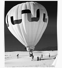 Ballooning at White Sands Poster