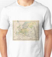 Vintage Map of Europe (1905) T-Shirt