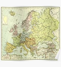 Vintage Europe Map Posters Redbubble - Vintage europe map poster