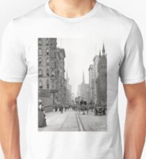 Camiseta unisex Vintage Fifth Avenue Photograph (1912)