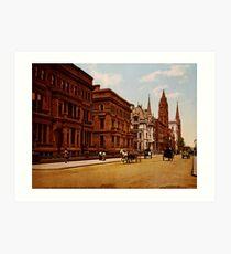 Lámina artística Vintage Fifth Avenue NYC Photo-Print (1900)