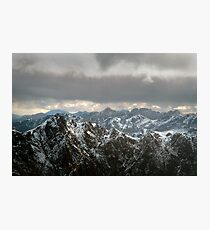 Western Arthur Ranges from the air Photographic Print