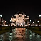 The theatre after an evening rain by Cosmin Roszkos