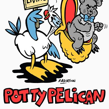 Potty Pelican Toilet Humour by RossRadiation