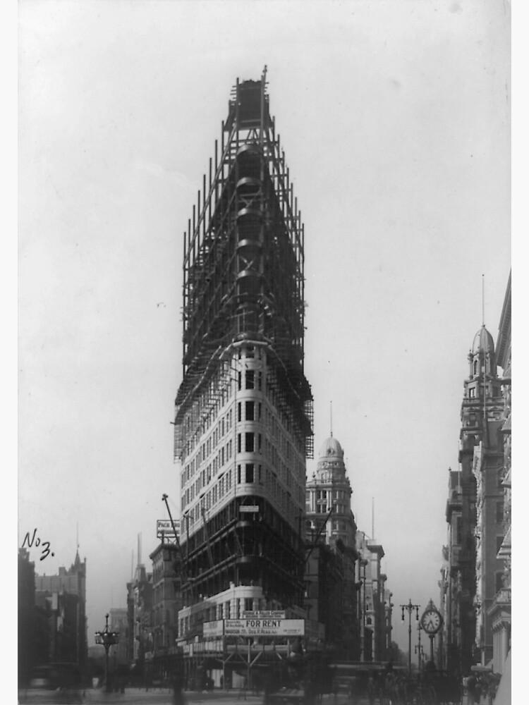Old NYC Flat Iron Building Construction Photograph de BravuraMedia