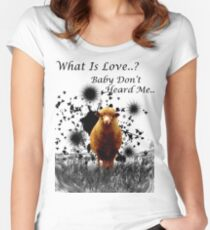 "Hilarious Sheep Parody of ""What is Love"" Women's Fitted Scoop T-Shirt"