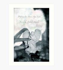 Praying  Art Print