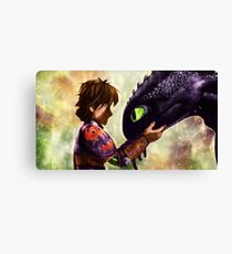 How to Train Your Dragon - Hiccup and Toothless Canvas Print