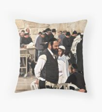 ירושלים . Jerusalem ,     لقدس . Hierosolyma, Aelia Capitolina . Bar micwa . no.2. Featured in RELIGIONS OF THE WORLD. 50+ Group.  Views: 1803 . Toda raba. Throw Pillow