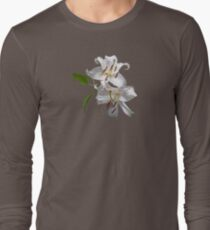 Two White Lilies Long Sleeve T-Shirt
