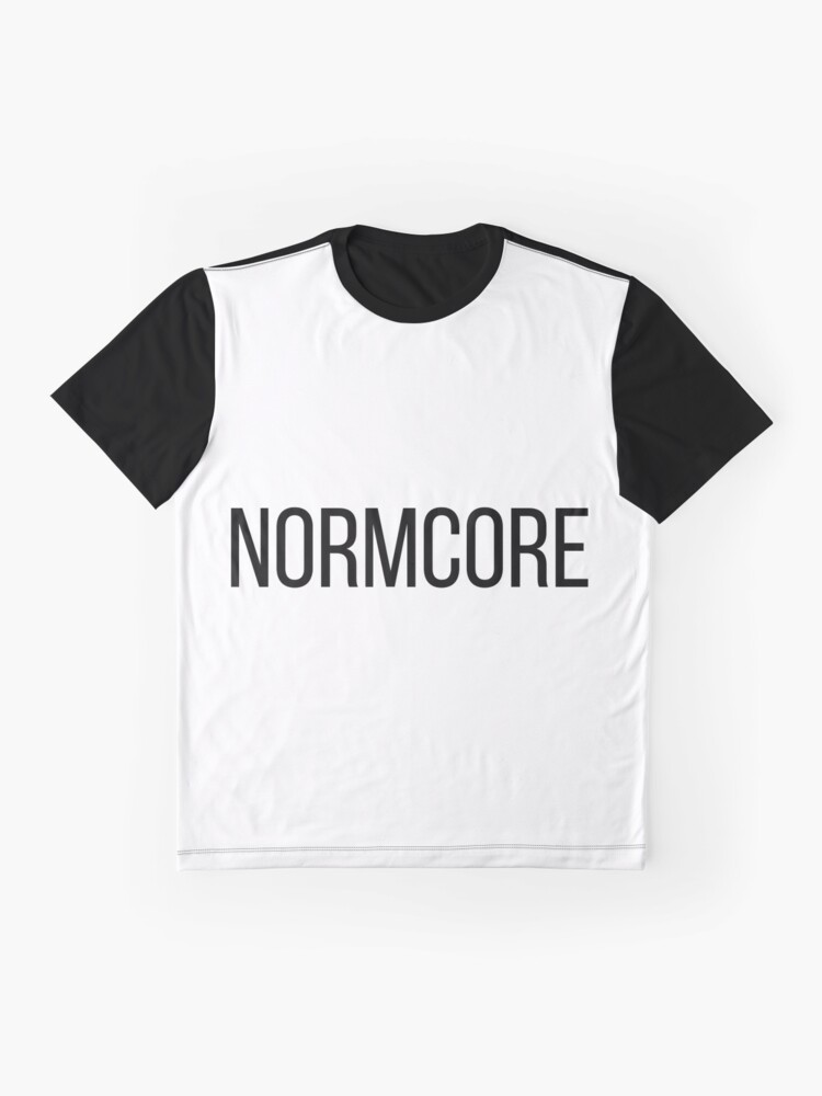 Alternative Ansicht von NORMCORE white HARDCORE NORMAL Grafik T-Shirt