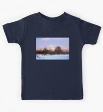 Watercolor Winter - Colorful Day on the Lake Kids Tee