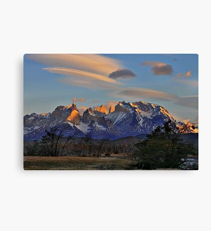 Sunset In Torres del Paine #2 Canvas Print
