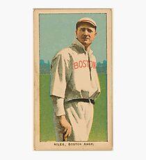 Benjamin K Edwards Collection Harry Niles Boston Red Sox baseball card portrait Photographic Print