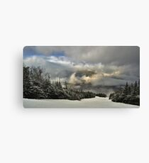 View from summit of Bretton woods ski area Canvas Print