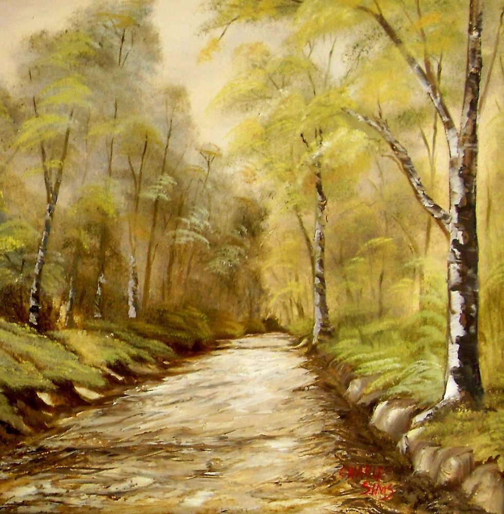 Dirt Road  by Charles Sims