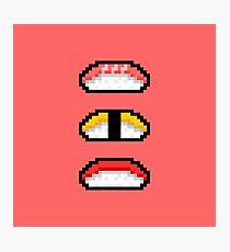 Pixel Nigiri Sushi Photographic Print
