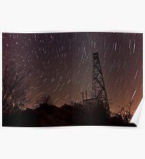 Falling Stars Over Firetower Poster