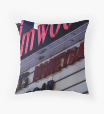 marquee at the Elmwood theater Throw Pillow