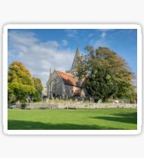 Alfriston Church from across the green Sticker