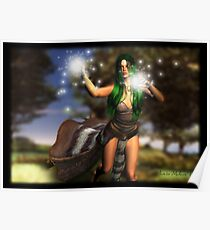 Forest Guardian: Earth Sorceress Poster