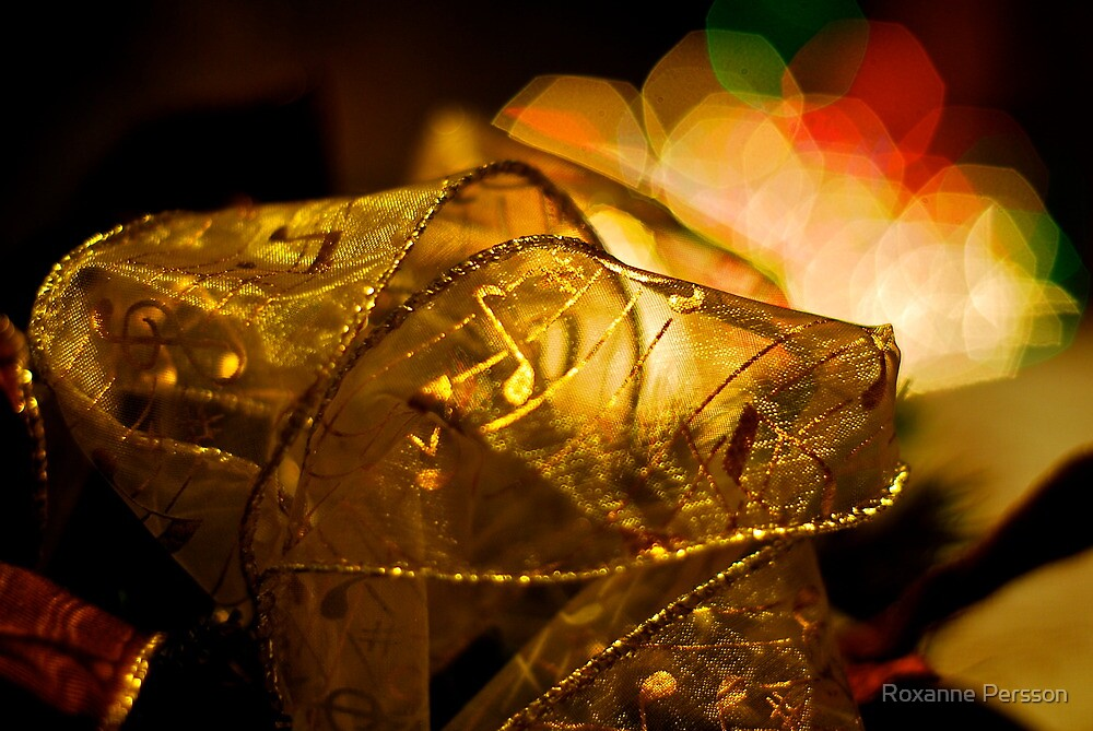 Christmas Ribbons & Lights by Roxanne Persson
