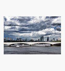 Impressions of London - Stormy Skies Skyline Photographic Print