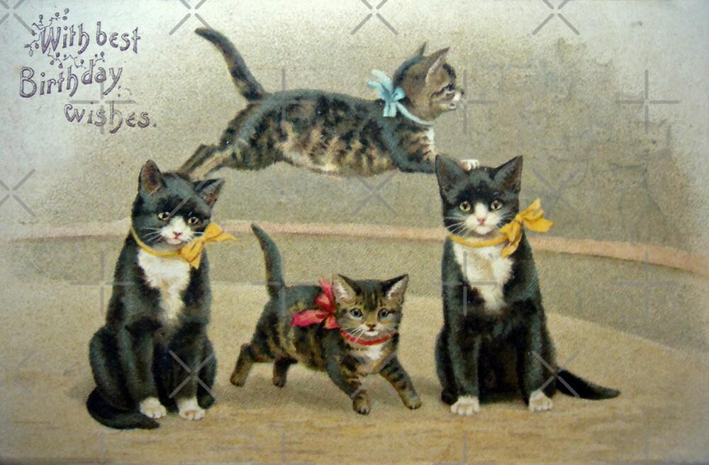 Birthday Kittens by FrankieCat