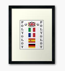 Polyglot language selector Framed Print