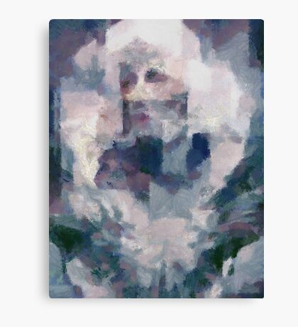 Portrait in Blue-unfinished work series Canvas Print