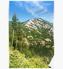 Lean In - A Mountain Lake Impression Poster