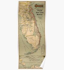 Florida Railroad Map.Old Florida Railroad Map Posters Redbubble