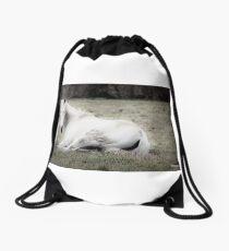 REDREAMING WHIITE HORSE Drawstring Bag