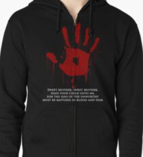 AWESOME Dark Brotherhood Black Sacrament!  Zipped Hoodie