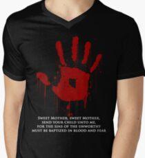 AWESOME Dark Brotherhood Black Sacrament!  Men's V-Neck T-Shirt