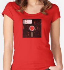 Retro Floppy Women's Fitted Scoop T-Shirt