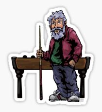 Old Pool player Sticker