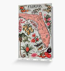 Vintage Map of Florida (1917) Greeting Card