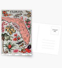 Vintage Karte von Florida (1917) Postkarten